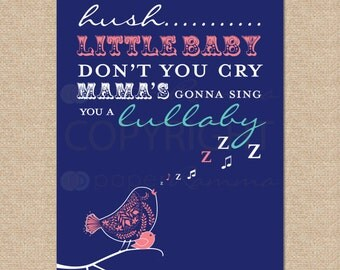 Hush Little Baby // Archival Giclee Art Print for Nursery / Child's Room // N-G21-1PS AA1