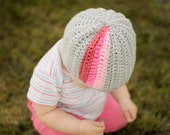 Instant Download - Crochet Pattern - Pop A Color Beanie (sizes Newborn to Adult)