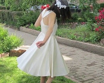 Wedding Gown, Wedding Dress, 1950s Style, Tea Length, 50s Wedding Dress, Tea Length Wedding Gown, Alternative Wedding, Custom Wedding Gown