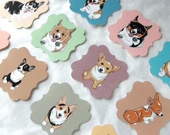 Corgi Die Cut Collection - Eco-friendly Set of 12 - Scrapbooking Embellishment