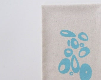 Cotton Kitchen Towel with Modern Circles - Choose your ink color