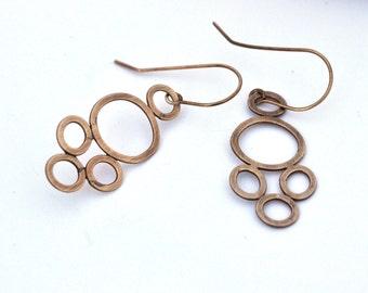 Handmade Eyelet Lace Earrings, Sterling Silver Earrings