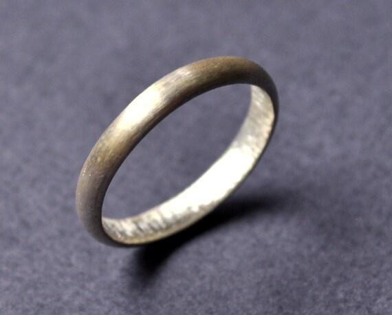 Wedding Band. 3mm. Women's Ring. Modern Contemporary Simple Sleek Elegant Design. Sterling Silver. Jewellery. Jewelry. Handmade.