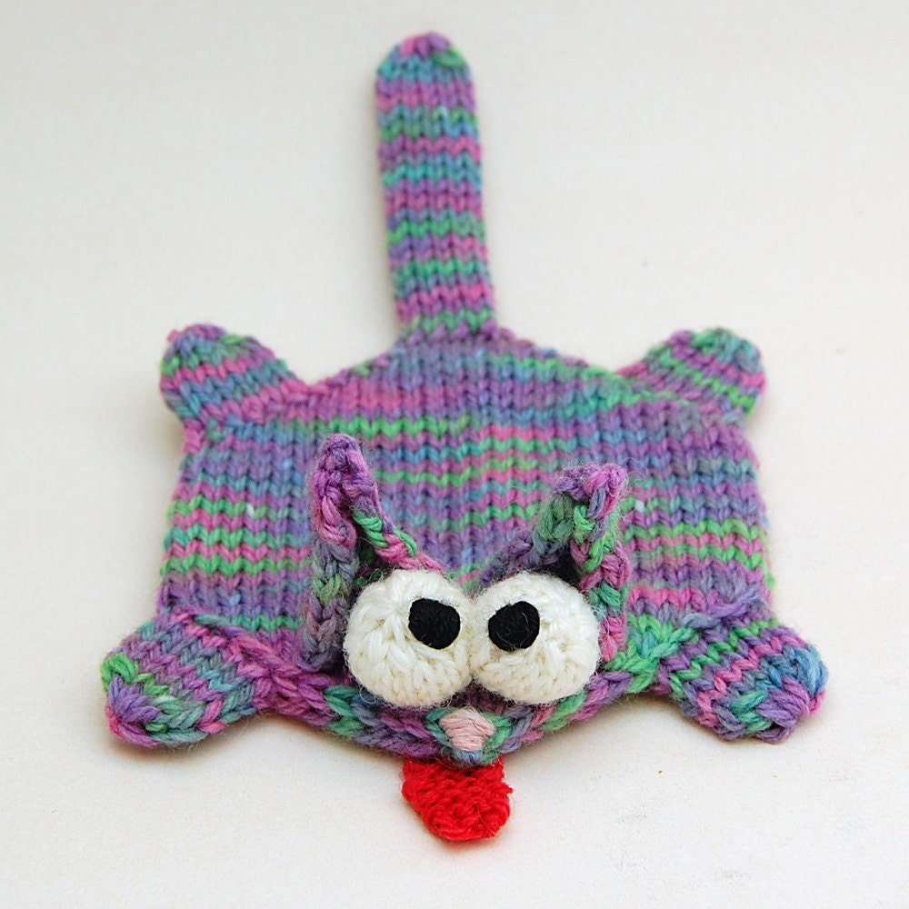 Knitting Patterns Plush Toys : Splat Cat Amigurumi Plush Toy Coaster Knitting Pattern PDF