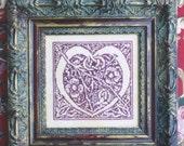 M Designs Celtic Heart Cross Stitch Chart - Instant Downloadable PDF