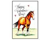 Handmade Happy Valentine's Day Horse card