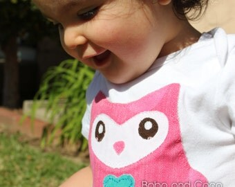 Olivia the OWL Baby GIRL Bodysuit 0-24 Months