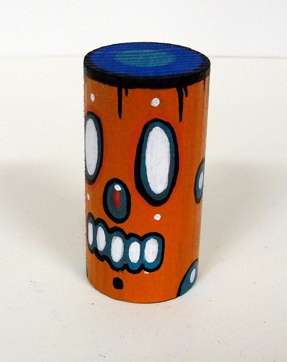Funk Totem Part No. 27 - Original Mixed Media Block