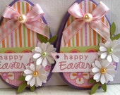Sweet Easter Embellishments- Happy Easter - Spring Flowers -