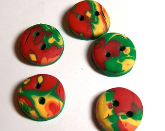 Red Yellow and Green Buttons No.47
