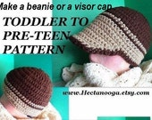 CROCHET PATTERN, hat pattern, number 172,   Newsboy Hat, For boys or girls ages 5 to 12,