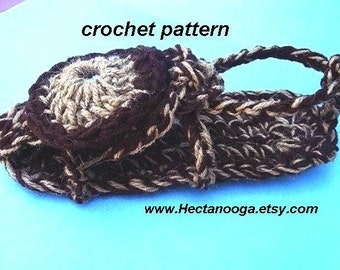 CROCHET PATTERN number 98... Adult Bohemian Sandals. Can be worn outside.