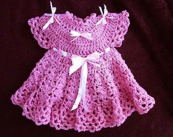 CROCHET Baby Dress PATTERN - Girl's Dress - Patterns for kids, babies, newborn to age 6 - number 538