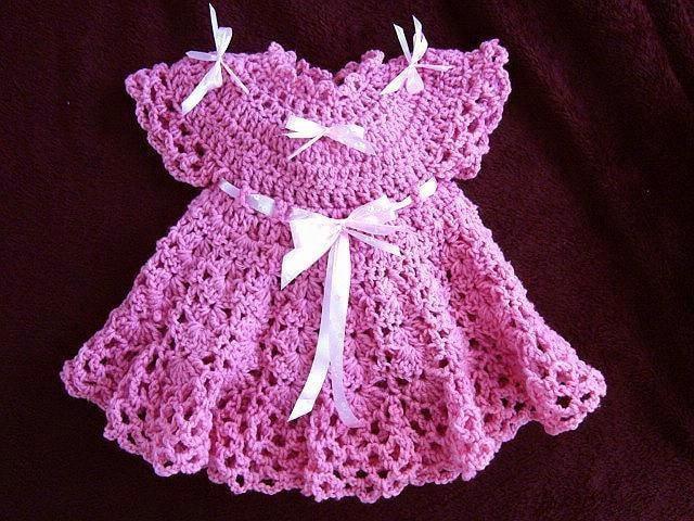 Crochet Patterns For Newborn Dresses : CROCHET Baby Dress PATTERN Girls Dress Patterns for