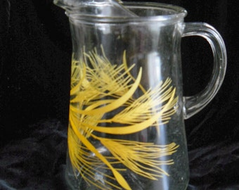 GOLDEN WHEAT Glass Vintage PITCHER