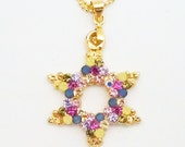 New Magen David Judaica Star Swarovski Crystal Israel