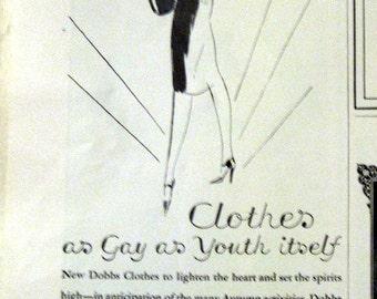 1926 Dobbs Clothing Store Ad NYC Art Deco era Fashion