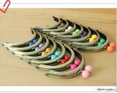 10% off   8CM  New 14 color bobbles  half round Brushed anti bronze purse frames   (purse frame wholesale) AB61-AB74