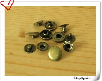 40 sets anti bronze 8mm snap button Snap Fastener i18