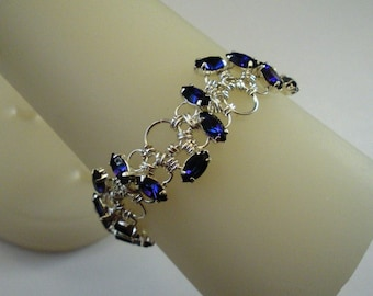 More Colors - Swarovski Crystal Chain Maille Sine Wave Brace