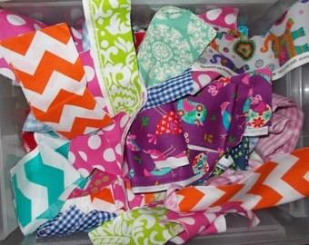 Bundle of 50 Pieces of Surprise Mixed Designer Fabric Scraps
