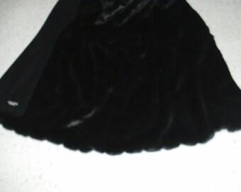 Black mink  plush faux fur throw blanket 60 X 70 inches