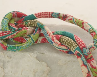 Japanese Chirimen Cording - Necklace or Bracelet Cord Kimono Fabric 800B