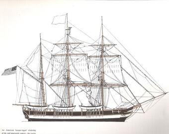 Old Print of a sailing ship