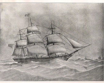 Antique Print of the Sailing Ship L.Z., built in 1848