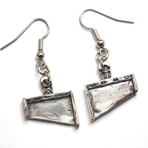 guillotine earrings silver guillotine blade earrings 224 1601