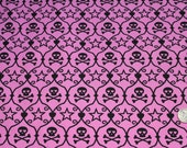 Bulk Purple Skulls Fabric