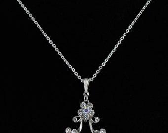 Rhinestone Flower Pendant. Listing 120005672