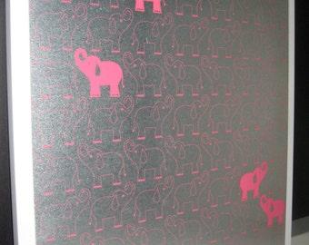 Elephant Pink ..Magnet Dry Erase Steel Memo Board / Housewarming Gift / Office Decor / Organization / Desk / Friend / Wall Decor / Message