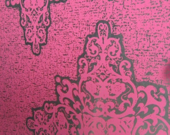 BOHO Pink.. Magnetic Dry Erase Steel Memo Board / Wall Decor / Housewarming Gift / Desk / Office Decor / Organization / Desk / Message Board
