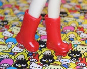 Blythe Cherry Red Gumboots