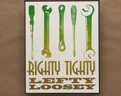 Vintage Style Handyman Letterpress Print