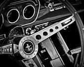 Classic Ford Mustang - 8 x 12 Black and White Print - Classic Cars