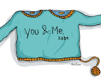 Postcard: You & Me, Babe (i love you)