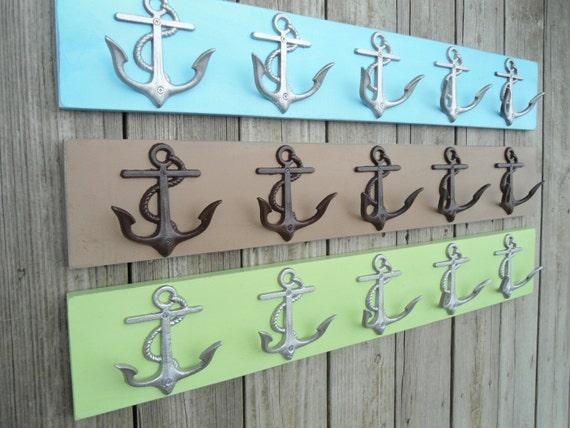 Beach Home Decor 2 5 Anchor Wall Hooks 10 Coat By