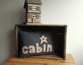 Wool Cabin Pillow Log Home  Accent Lodge Decor Upcycled Eco friendly