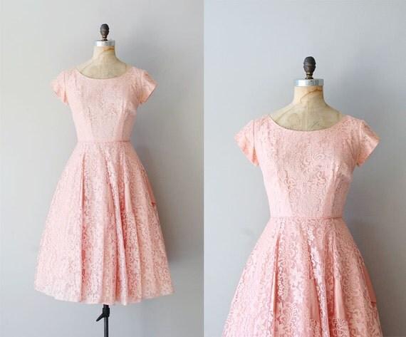 lace 50s dress / 1950s dress / Confection Lace dress