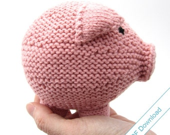Knitting Pattern Toy Pig PDF. Knit Your Own Hog.