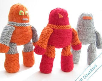 Robot Knitting Pattern Download. DIY Cuddly Robot.