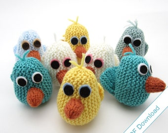 Little Bird Knitting Pattern PDF. Instant Download.