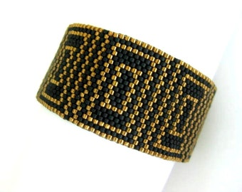 Peyote Pattern - Luxury - INSTANT DOWNLOAD PDF - Peyote Stitch Bracelet Pattern - Geometric Peyote Pattern - One Drop Even Peyote Pattern