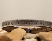 stop letting fear rule your life- grey friendship bracelet
