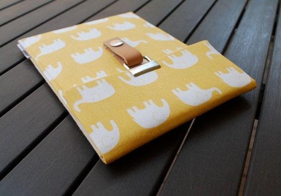 Kindle Paperwhite Case / Nook Cover / NookColor / Kobo / Sony / Galaxy Tab / Kindle 4 / Kindle 4, 3, 2, 1 - Elephant Yellow