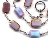 Lavender Fields  Rare Czech Glass Necklace, Purple Necklace, ooak Necklace, handmade jewelry by annaart72