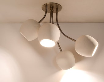 LED Bouquet : Ceiling light with four ceramic shades - On Sale 15% Off