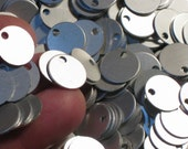 """1/2"""" Frost Aluminum Blanks 30 Or More 1/2"""" 21 Gauge 12.8mm Stamping Blanks Discs Charms Silky Silver Grey Satin Lightweight Metal Stamping"""